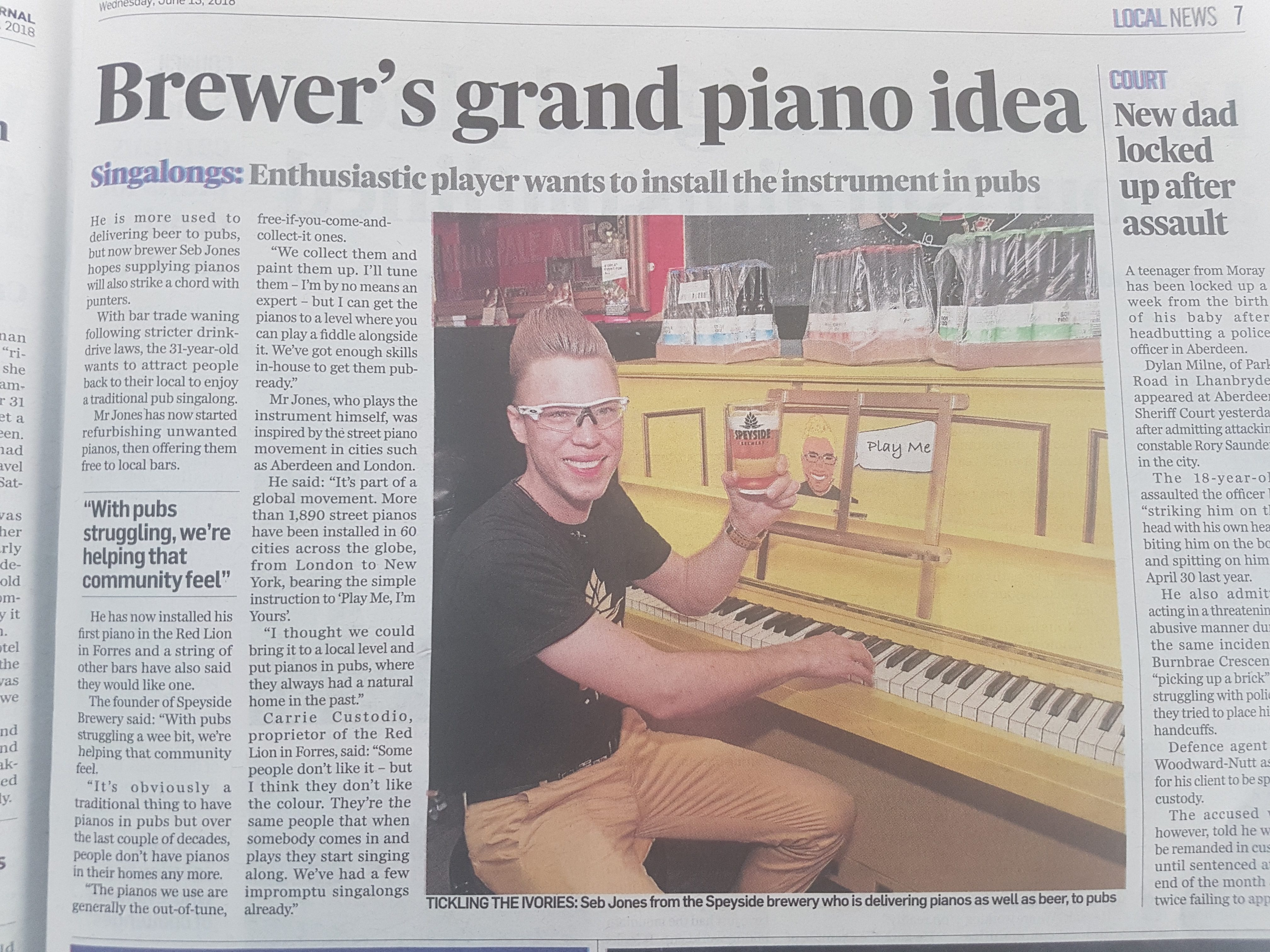Pianos in Pubs, Speyside Brewery PR P_J